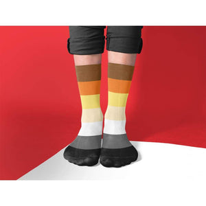 Bear Pride Flag Tube Socks | Rainbow & Co