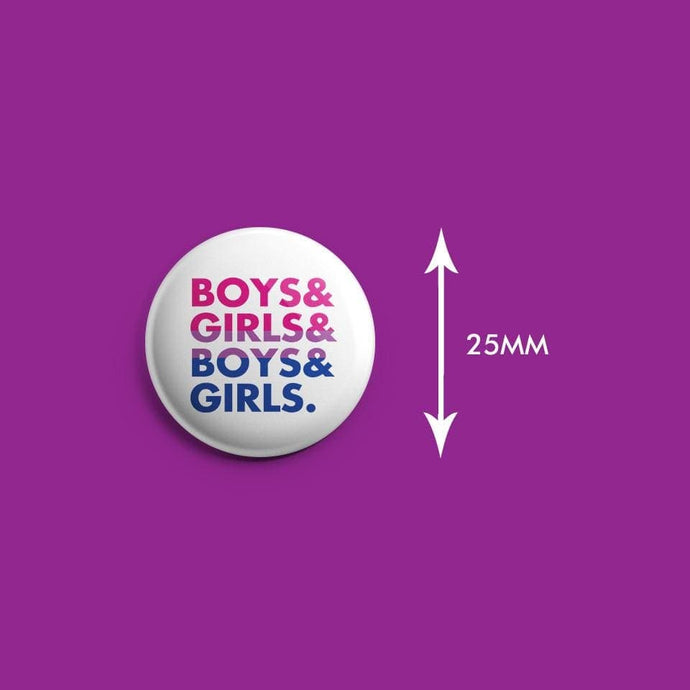Boys & Girls Bisexual Badge | Rainbow & Co