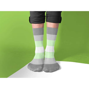 Demiandrogyne Pride Flag Tube Socks | Rainbow & Co
