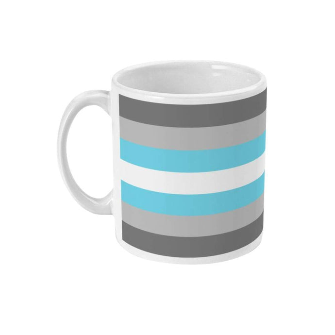 Demiboy Pride Flag Coffee Mug | Rainbow & Co
