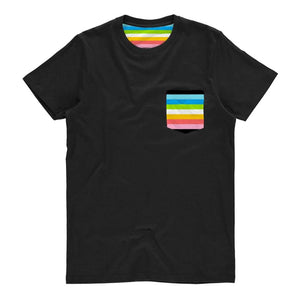Queer Pride Flag Pocket T Shirt | Rainbow & Co
