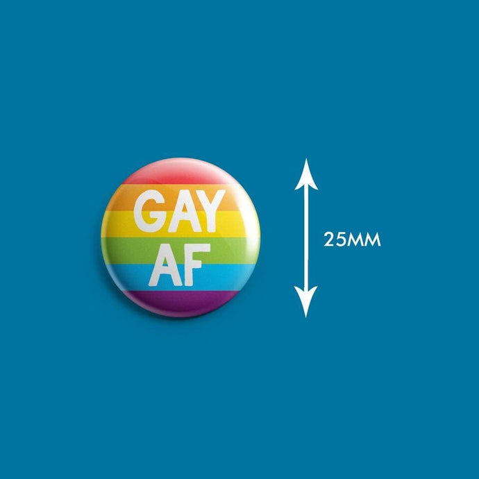 Gay AF Badge | Rainbow & Co