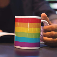 Load image into Gallery viewer, Gay Pride Flag Coffee Mug | Rainbow & Co