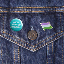 Load image into Gallery viewer, Genderqueer Flag Pin | Rainbow & Co
