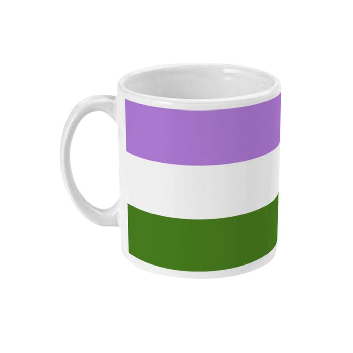 Genderqueer Pride Flag Coffee Mug | Rainbow & Co