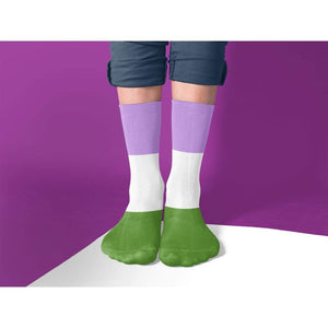 Genderqueer Pride Flag Tube Socks | Rainbow & Co