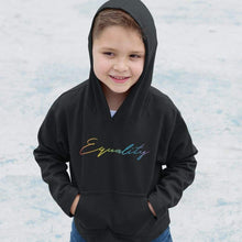 Load image into Gallery viewer, Kids Equality Rainbow Hoodie | Rainbow & Co