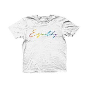 Kids Equality Rainbow T Shirt | Rainbow & Co