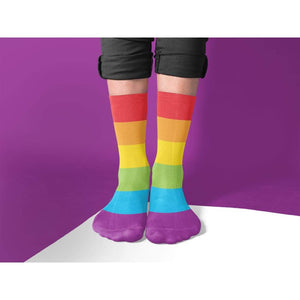 LGBTQ Pride Rainbow Flag Tube Socks | Rainbow & Co