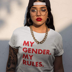 My Gender My Rules T Shirt | Rainbow & Co