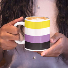 Load image into Gallery viewer, Non Binary Pride Flag Coffee Mug | Rainbow & Co