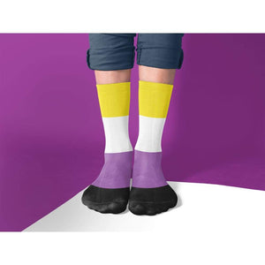 Non Binary Pride Flag Tube Socks | Rainbow & Co