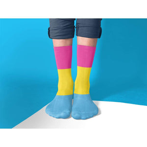 Pansexual Pride Flag Tube Socks | Rainbow & Co