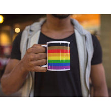 Load image into Gallery viewer, Philly Gay Pride Flag Coffee Mug | Rainbow & Co