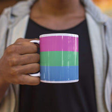 Load image into Gallery viewer, Polysexual Pride Flag Coffee Mug | Rainbow & Co