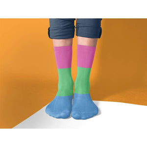 Polysexual Pride Flag Tube Socks | Rainbow & Co