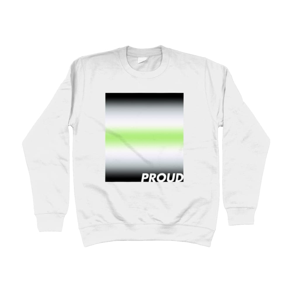 Proud Agender Sweatshirt | Rainbow & Co
