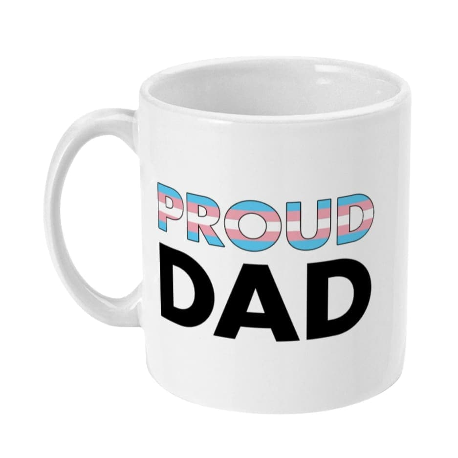 Proud Dad - Transgender Flag Mug | Rainbow & Co