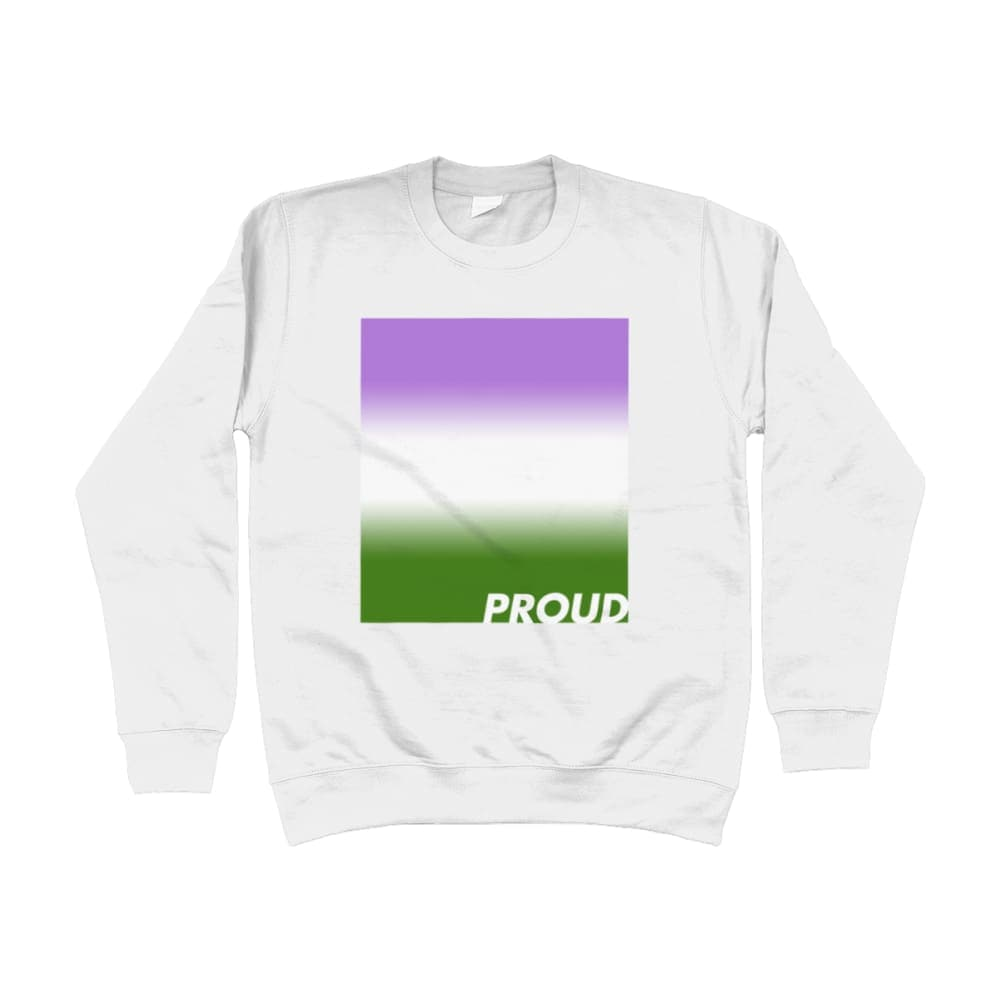 Proud Genderqueer Sweatshirt | Rainbow & Co