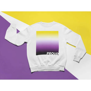 Proud Non Binary Sweatshirt | Rainbow & Co