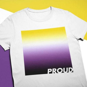 Proud Non Binary T Shirt | Rainbow & Co