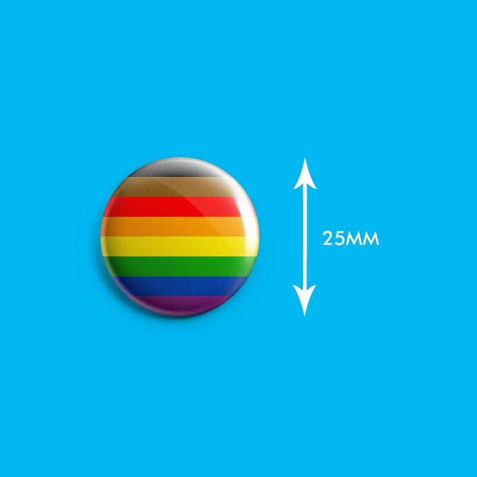 QPOC Inclusive Pride Flag Badge | Rainbow & Co
