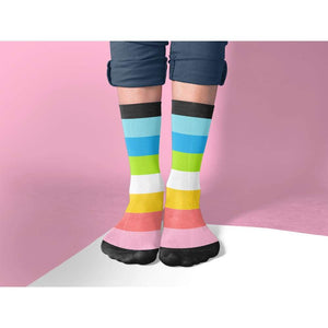 Queer Pride Flag Tube Socks | Rainbow & Co