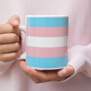 Transgender Pride Flag Coffee Mug | Rainbow & Co
