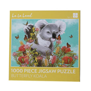1000 Piece Jigsaw - Butterfly Koala-Yarrawonga Fun and Games.