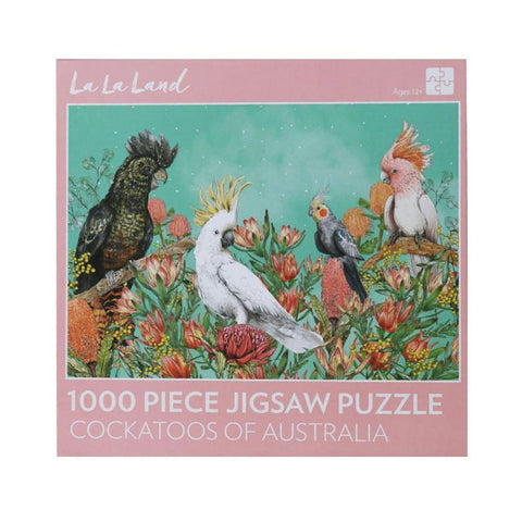 1000 Piece Jigsaw - Cockatoos of Australia-Yarrawonga Fun and Games.
