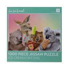 1000 Piece Jigsaw - Ice Cream Critters-Yarrawonga Fun and Games.
