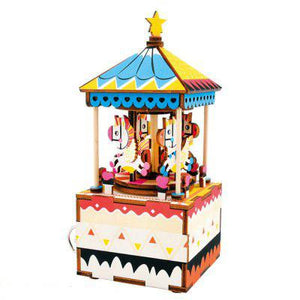 3D Music Box Puzzle - Merry Go Round-Yarrawonga Fun and Games