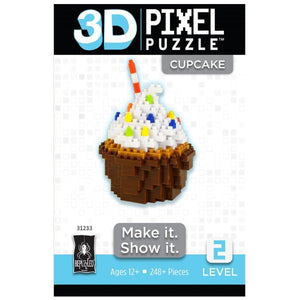 3D Pixel Puzzle - Cupcake-Yarrawonga Fun and Games