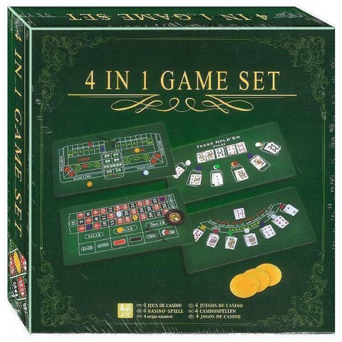 4-In-1 Games Set-Yarrawonga Fun and Games
