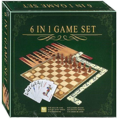 6-In-1 Games Set-Yarrawonga Fun and Games