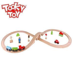 70 Piece wooden Train Set-Yarrawonga Fun and Games