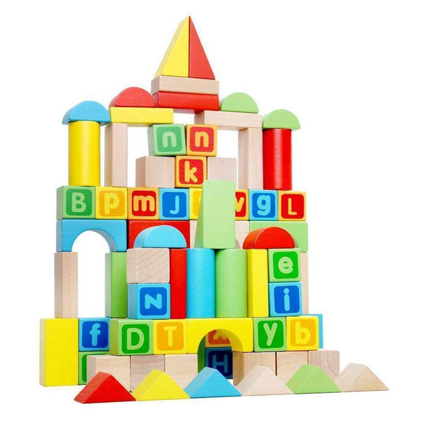 80 Piece wooden Blocks-Yarrawonga Fun and Games.