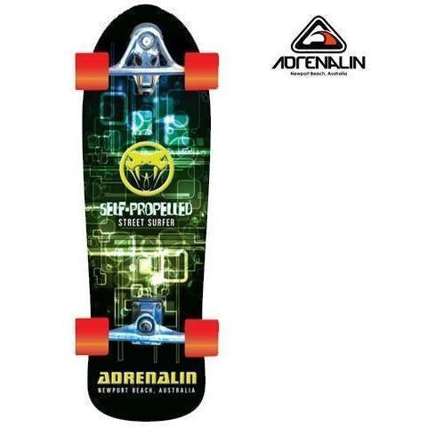 Adrenalin Self Propelled Street Surfer Skateboard-Edgy Street-Yarrawonga Fun and Games
