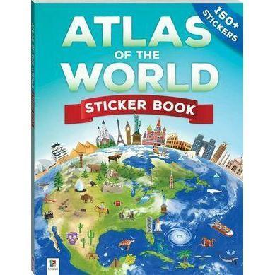 Atlas of the World - Sticker book-Yarrawonga Fun and Games.