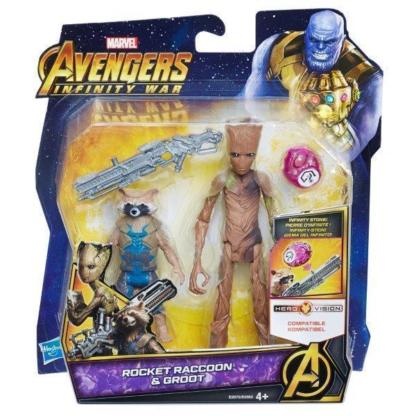 "Avengers 6"" Deluxe Figures-Rocket and Groot-Yarrawonga Fun and Games."
