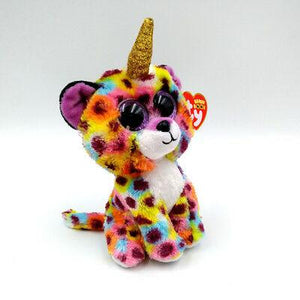 Beanie Boo - Leopard, with horn - Giselle-Yarrawonga Fun and Games