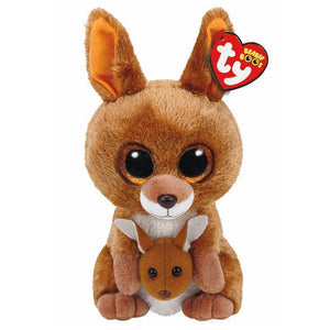 Beanie Boo - Medium - Kangaroo - Kipper-Yarrawonga Fun and Games
