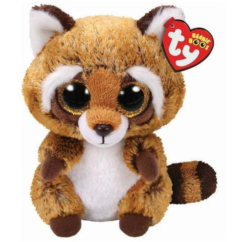 Beanie Boo - Medium - Raccoon - Rusty-Yarrawonga Fun and Games
