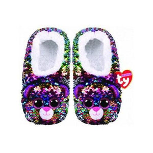 Beanie Boo Sequin Slippers - Various-Dotty the Leopard-Yarrawonga Fun and Games