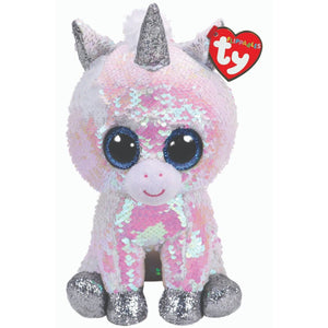 Beanie Boo Sequins - Medium - Diamond Unicorn