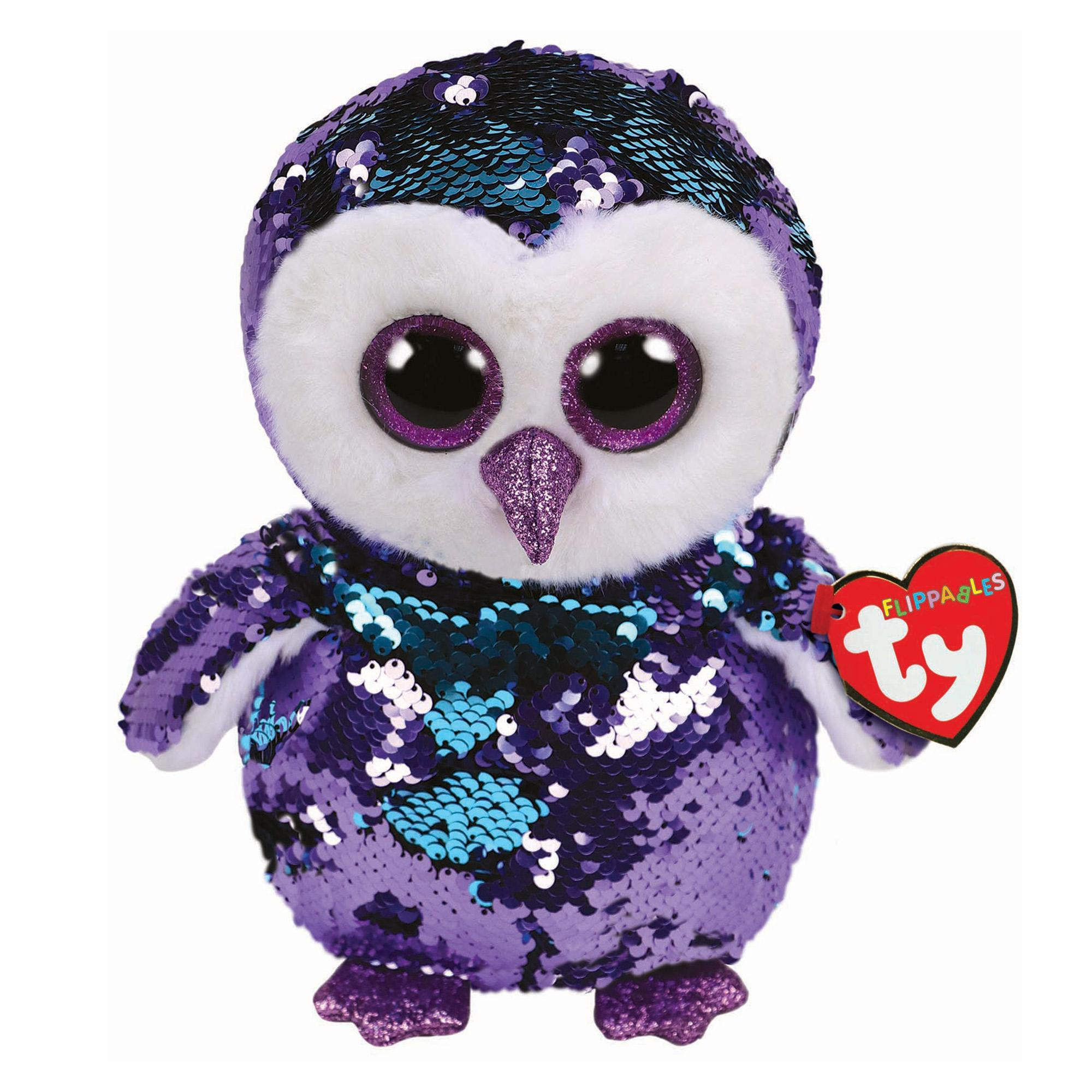 Beanie Boo Sequins - Medium - Moonlight Owl-Yarrawonga Fun and Games.