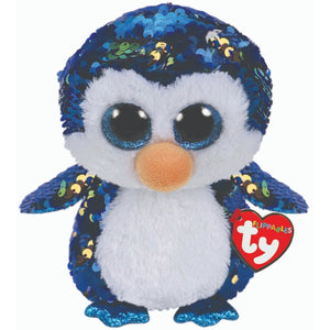 Beanie Boo Sequins - Medium - Payton Penguin-Yarrawonga Fun and Games.
