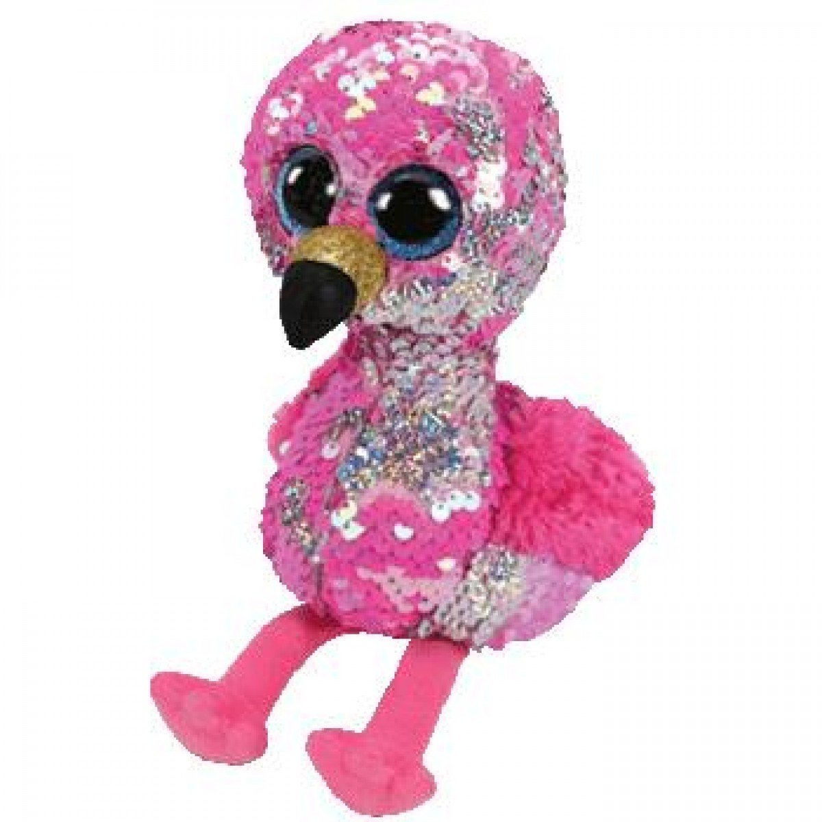 Beanie Boo Sequins - Medium - Pinky Flamingo-Yarrawonga Fun and Games