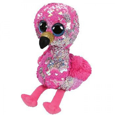 Beanie Boo Sequins - Medium - Pinky Flamingo