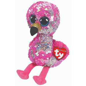 Beanie Boo Sequins - Pinky Famingo-Yarrawonga Fun and Games